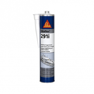 Colle-mastic multi-usages Sikaflex 291i - applications marine - 300 ml - gris acier