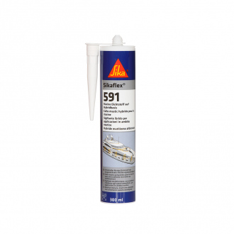 Colle-mastic multi-usages hybrides - Sikaflex 591 - 300 ml - blanc