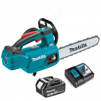 Tronçonneuse Makita BRUSHLESS 18V Li-Ion - guide 25 cm - 1 bat Li-Ion 3Ah + chargeur