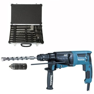 Marteau Perforateur Burineur MAKITA HR2631FT12 pour SDS-Plus + Coffret D-42444