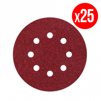 Pack de 25 disques auto-agrippants G120 Ø125mm