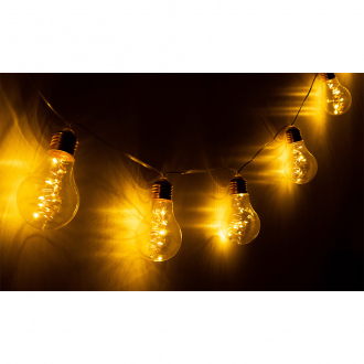 Guirlande solaire spirales - 10 LED - blanc