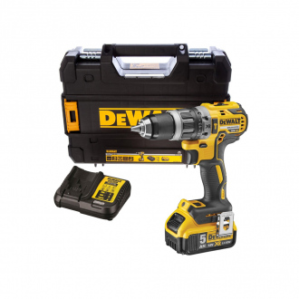 Perceuse à percussion XR BRUSHLESS 18V Dewalt - 70Nm - 1 bat Li-Ion 5Ah + chargeur + coffret