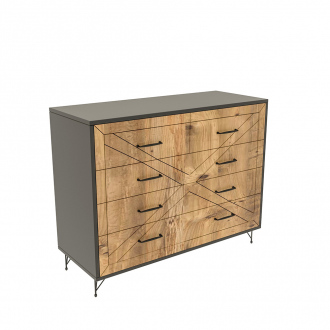 Commode Comfort - 80 x 100 x 40 cm - pin