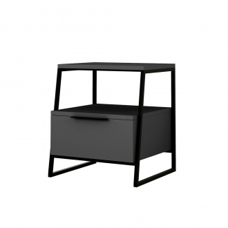 Table de chevet PONTIS - 63 x 46 x 17 cm - anthracite