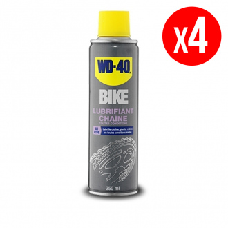 Lot de 4 lubrifiants chaîne toutes conditions WD40 Bike - aérosol 4 x 250 ml