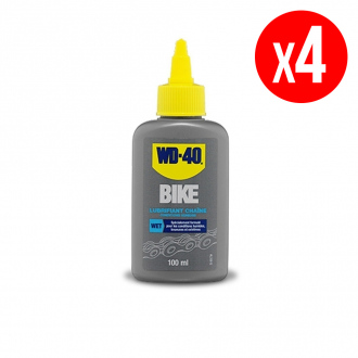 Lot de 4 lubrifiants chaîne conditions humides WD40 Bike - burette 4 x 100 ml