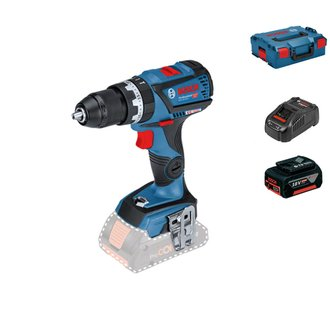 Taladro percutor Bosch BRUSHLESS 18V - 60Nm + 1 bat Li-Ion 5Ah + cargador + L-Boxx