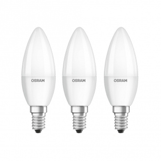Pack de 3 ampoules LED flamme - E14 - 5.7 W - 470 lm - blanc chaud