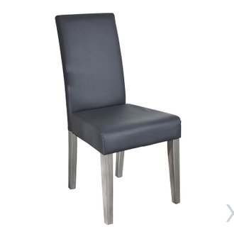 "Lot de 2 chaises ""Namur"" -  Gris"