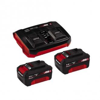 Starter Kit Power X-Change + Double Chargeur EINHELL- 2 batteries 18V x 3,0 Ah