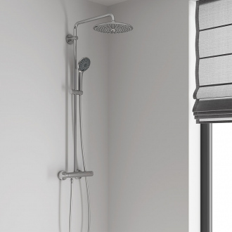 Colonne thermostatique VITALIO JOY SYSTEM 260 GROHE - tête Ø 26 cm + douchette 3 jets