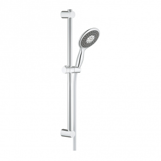 Ensemble VITALIO RAIN 130 GROHE - douchette 3 jets + barre 60 cm + flexible 175 cm - chrome