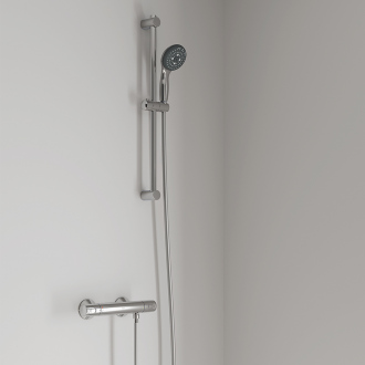Combiné thermostatique PRECISION TREND GROHE - douchette 3 jets - flexible 175 cm - chrome