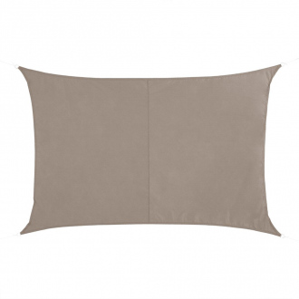 Voile d'ombrage rectangulaire QUITO - 4 x 3 m - 160 g/m² - taupe