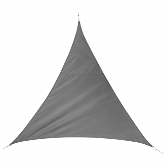 Voile d'ombrage triangulaire QUITO - 5 x 5 m - 160 g/m² - ardoise
