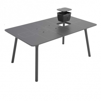 Table PLAYMOOD 6 à 8 places- 160 x 100 x 74 cm - anthracite