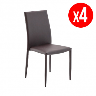 Pack de 4 chaises ADA - marron