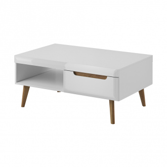 Table basse NORDI - 107 x 67 x 40 cm - blanc