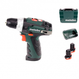 Perceuse-visseuse PowerMaxx 10,8V Metabo - 2 bat Li-Ion 2Ah + chargeur + coffret