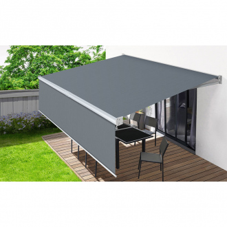 Store banne Milano vertical - 240 g/m² - gris - 4 x 3 m
