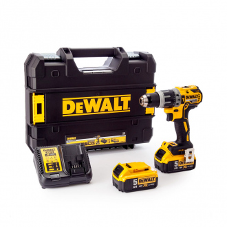 Perceuse à percussion DEWALT BRUSHLESS 18V - 70 Nm - 2 bat Li-ion 5Ah + chargeur + coffret TSTAK II