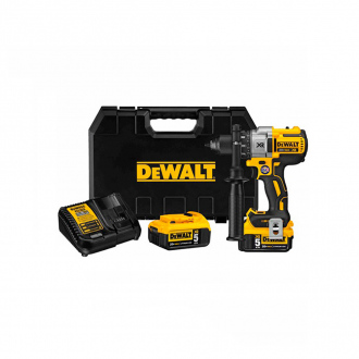 Perceuse à percussion DEWALT 18V - 95 Nm - 2 bat 5 Ah Li-Ion + chargeur + coffret Tstak