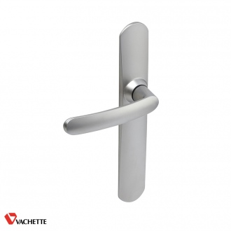 Ensemble de poignées de porte SLIM - 165 mm - chrome satin - bec de canne