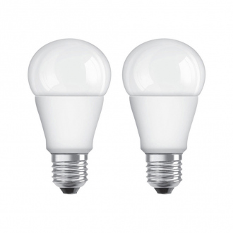 Lot de 2 ampoules LED - E27 - 9 W / 60 W- forme standard - blanc neutre - dimmable