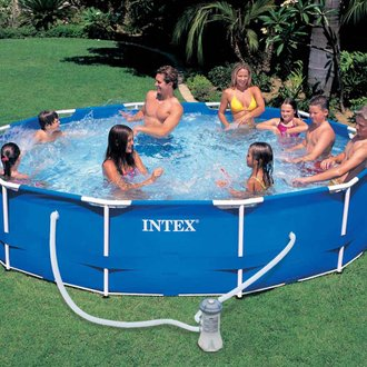 Piscine tubulaire Metal Frame ronde 3,66 x 0,76 m - Intex