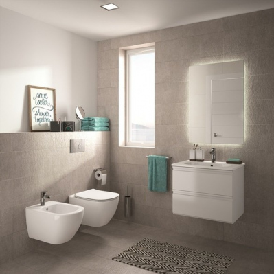 Geberit Pack WC Geberit duofix UP100 + Cuvette Ideal Standard Tesi Aquablade + Plaque de commande Delta51 Chrome mat
