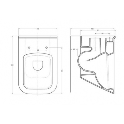 Pack WC Geberit duofix UP100 + Cuvette Diagonal + Plaque de commande Delta50 chrome mat