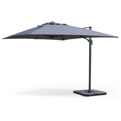 Parasol déporté 240 g/m² + housse + 4 dalles - 3 x 4 m - anthracite