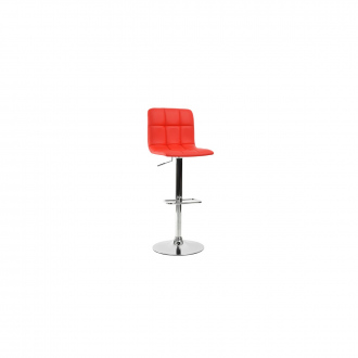 Tabouret de bar confortable design Noir - Rouge