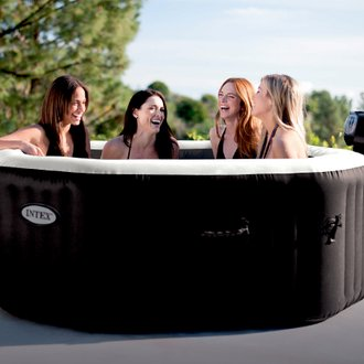 Spa gonflable PureSpa octogonal Bulles et Jets 4 places - Intex