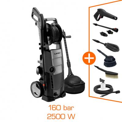 Nettoyeur haute pression LAVOR EXPERT 160 - 2500W - 160 bar - brosse patio + brosse auto + kit complet d'accessoires inclus