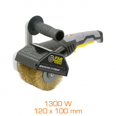 Rénovateur extérieur avec brosse laitonnée 1300W - 120 x 100 mm
