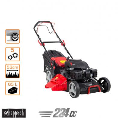 Tondeuse autotractée PRO Extrem 224cc - fonction 5 en 1 - coupe Ø53cm - bac semi-rigide 65 L + bumper