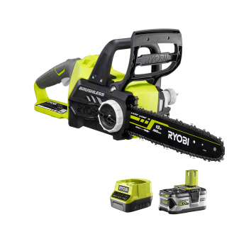 Tronçonneuse brushless 18V One+ - 1 bat Li-Ion 5.0 Ah + chargeur